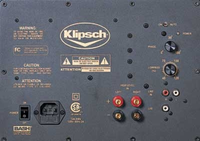 klipsch cinema 10 - back