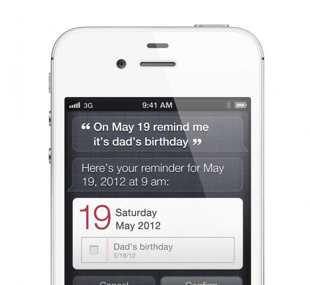 iPhone 4s Siri Reminder Screen