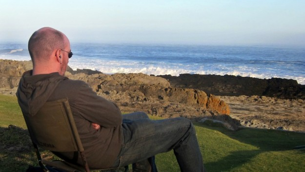 Geoff Morrison overlooks South African Coast, with IEMs