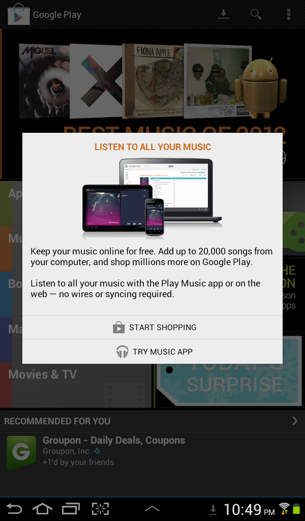 Google Music Play and Match