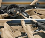The expansive interior of the Panamera.