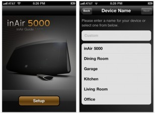 Altec Lansing inAir 5000 iPhone App screen