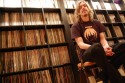 Mikael of Opeth with record collection