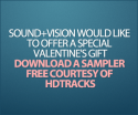 HDtracks valentine sampler