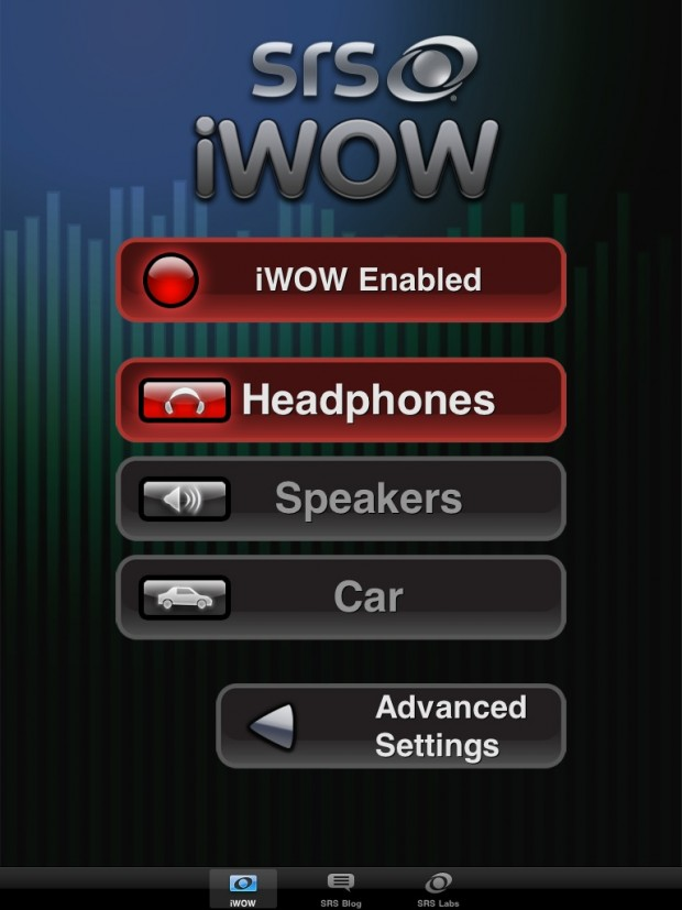 SRS iWow for the iOS