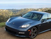 Porsche Panamera over the water