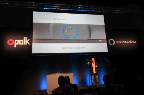 Alexa Speaks through Polk Command Bar