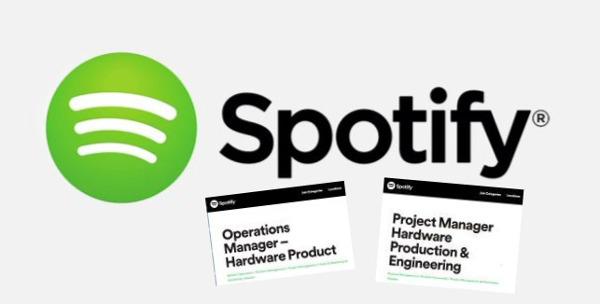 Spotify Eying Hardware Launch?