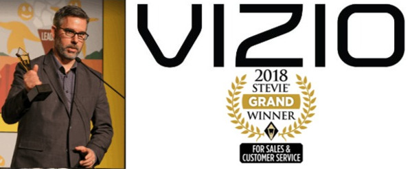 Vizio Recognized for Customer Service Excellence