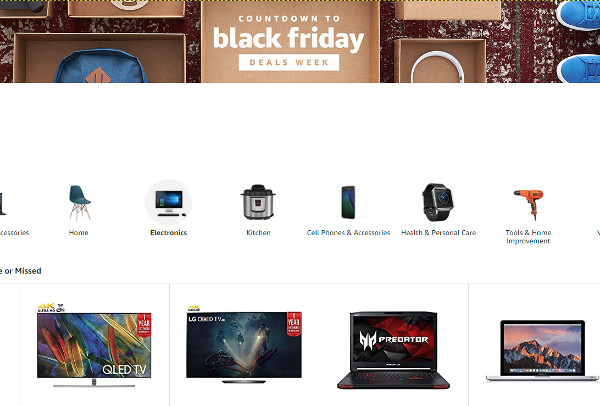 Amazon Opens 'Black Friday Deals' Store