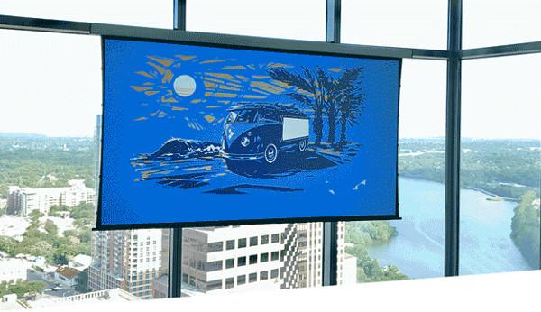 SI Ships Wireless Motorized Projection Screen
