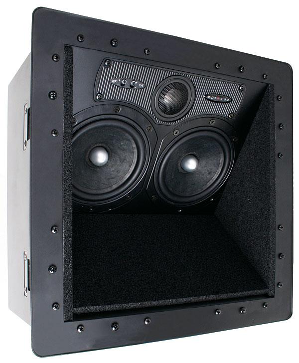 In ceiling center channel speaker radiator steam valve