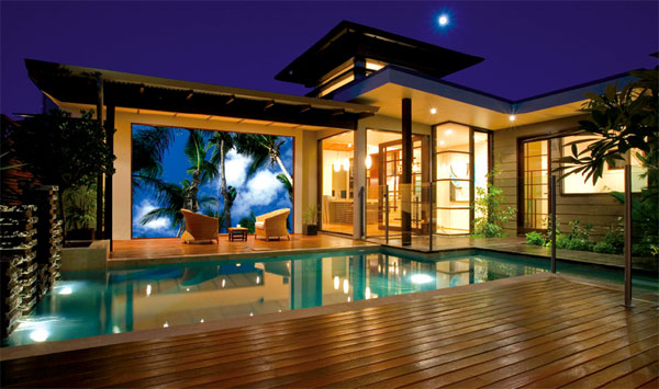 Home theater rear projection