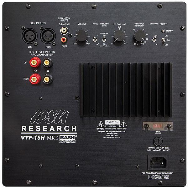 Hsu Research VTF-15H MK2 and VTF-3 MK5 HP Subwoofer Reviews