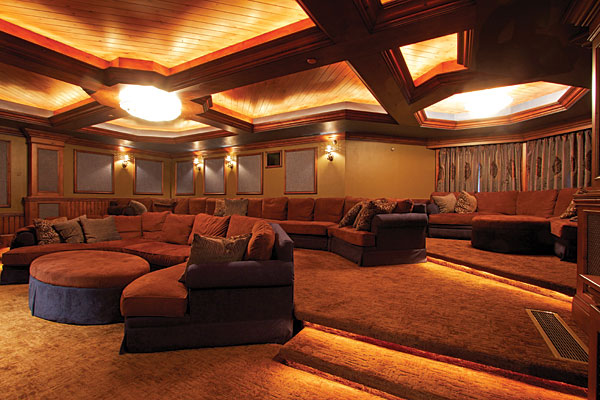 Casual and luxurious sound vision - Theater room furniture ideas ...