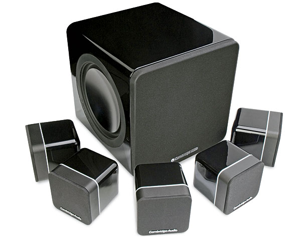 speakers small. ideal for rooms in which large speakers are simply not welcome, the minx s215 teams five tiny cube speakers\u2014each of small p