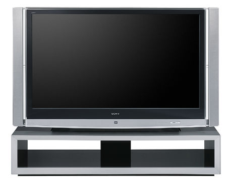 sony tv with speakers on side. in fact, while placement issues precluded a side-by-side comparison with my reference\u2014a sony g90 crt front projector driven through faroudja vph-5000 tv speakers on side