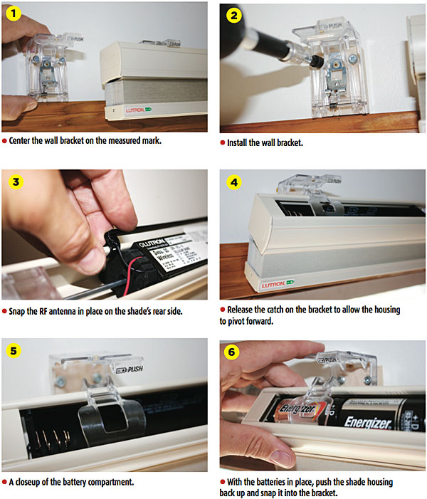 Lutron recommends using standard alkaline D batteries (either four or six,  depending on the shade size). Some shade sizes require eight AA batteries,  ...
