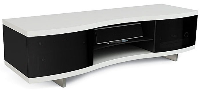 BDI s Ola is a curvy cabinet ideal for larger home theaters thanks to a  substantial top panel and base to position up to a 73 inch flat panel. Top Picks A V Furniture and Mounts   Sound   Vision