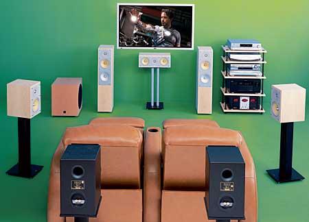 Projector hook up speakers