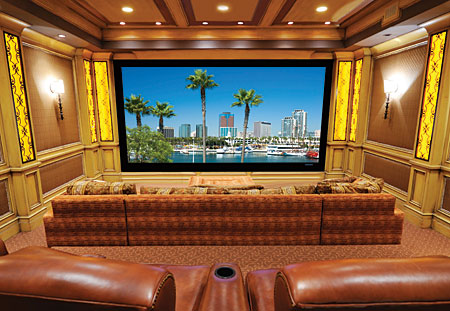 Home theatre projection screens