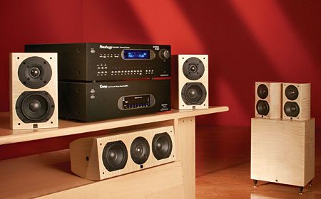 Great Erau0027s Design 4 Speaker System Is Small Enough To Harmonize With A  Space Saving Video Display And Wonu0027t Drag Down A Lovingly Designed Space.
