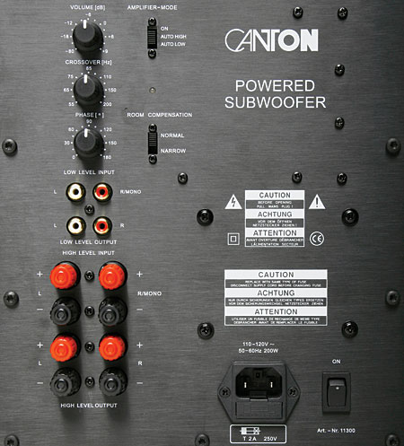 Canton Gle 403 Speaker System At A Glance Amp Ratings