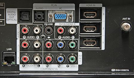 Samsung Ln52a750 Lcd Tv Setup Amp Tests Sound Amp Vision
