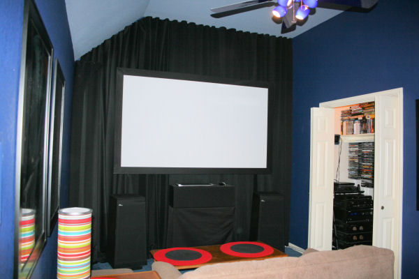 A diy home theater conversion on a budget sound vision - Diy home theater design ...