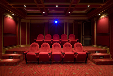 Million dollar media room sound vision for Home theater room size