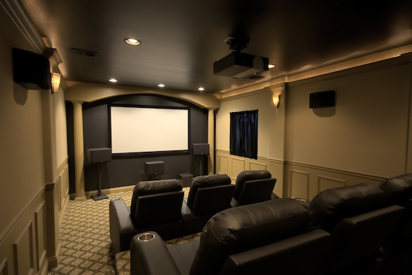 Balancing the budget sound vision for Basement home theater design ideas