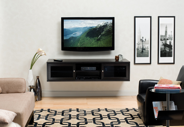 six versatile entertainment centers sound vision. Black Bedroom Furniture Sets. Home Design Ideas