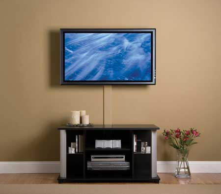 A flat panel tv cable cover up sound vision for Ideas to cover tv wires
