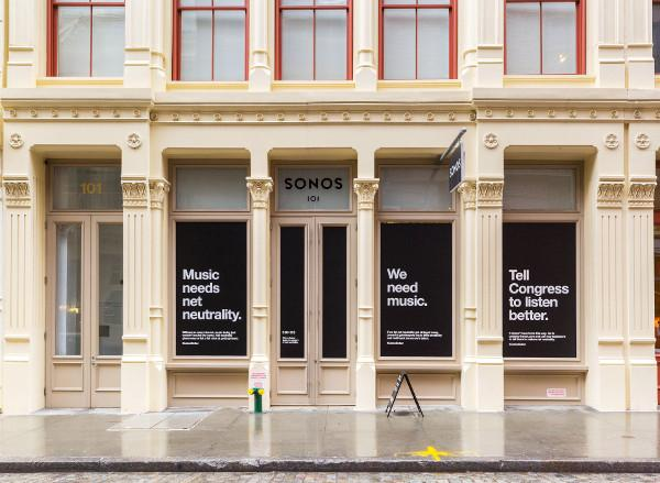 Sonos Closes NYC Store for a Day In Protest of FCC Net Neutrality Ruling