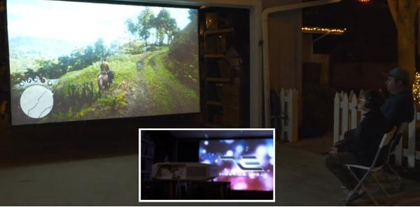 Two-Sided Portable Projection Screen