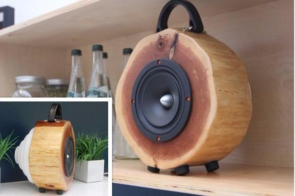 Unique Speakers former soccer pro crowdfunds unique log speaker | sound & vision