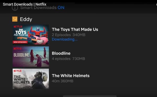نتيجة بحث الصور عن Netflix launches Smart Downloads