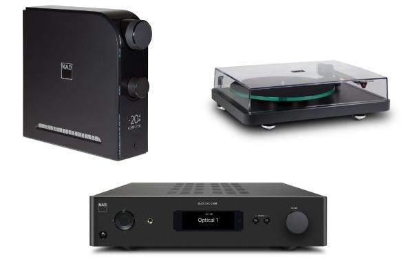 NAD Unveils Amp/DAC, Streaming DAC & Turntable