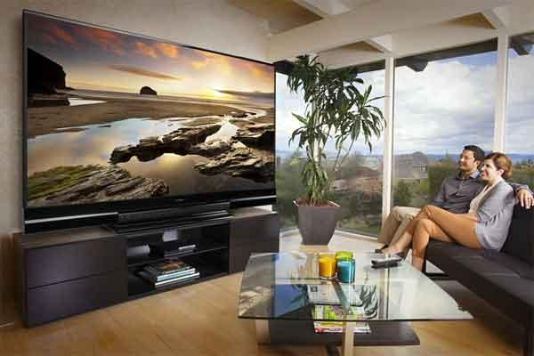 how big tv for my living room large tv for well lit room sound amp vision 27123