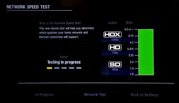 my net speed test in mbps
