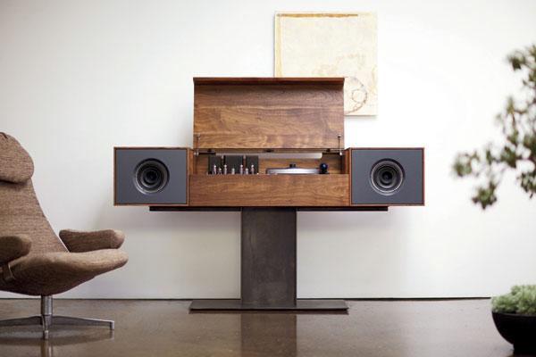 Modern Hifi symbol audio modern record console sound vision