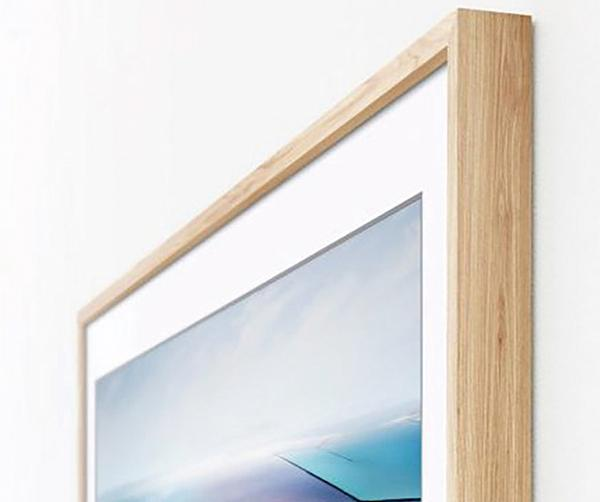 Samsung Addresses That Problem With A Tv Called The Frame This Wooden Framed Imitates