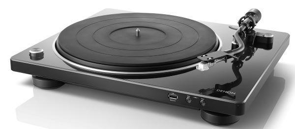 Black DENON DP-200USB Turntable Record Player MP3 Convertor to USB Built-PHONO