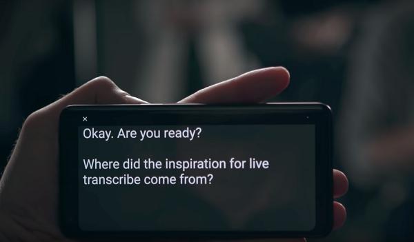 Google's Live Transcribe