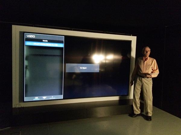 vizio tv 90 inch. sneak peek: vizio\u0027s 120-inch reference uhdtv vizio tv 90 inch v