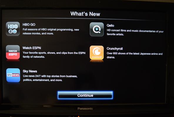 Apple TV Adds HBO Go, WatchESPN, More Streaming Videos